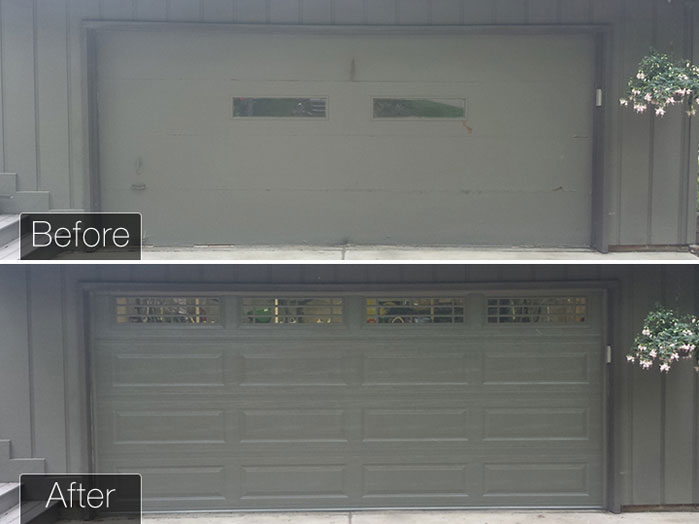 Garage Door Installation before and after