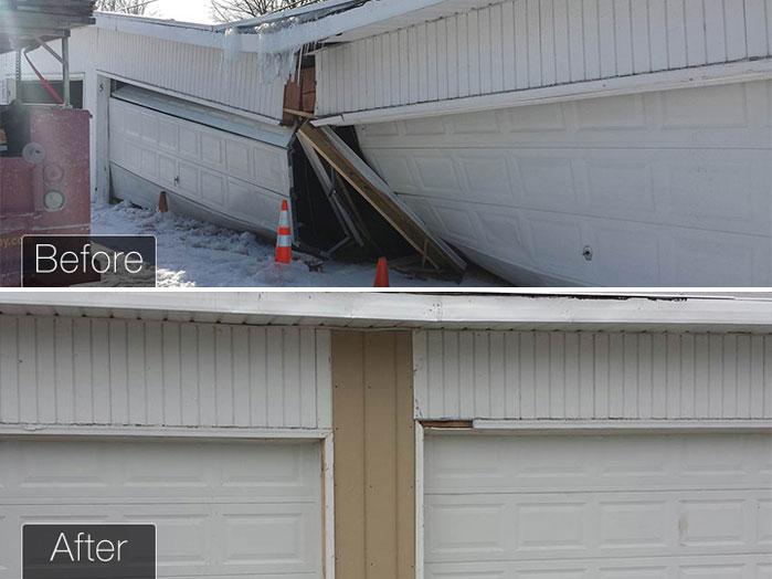 Garage Door Repair before and after