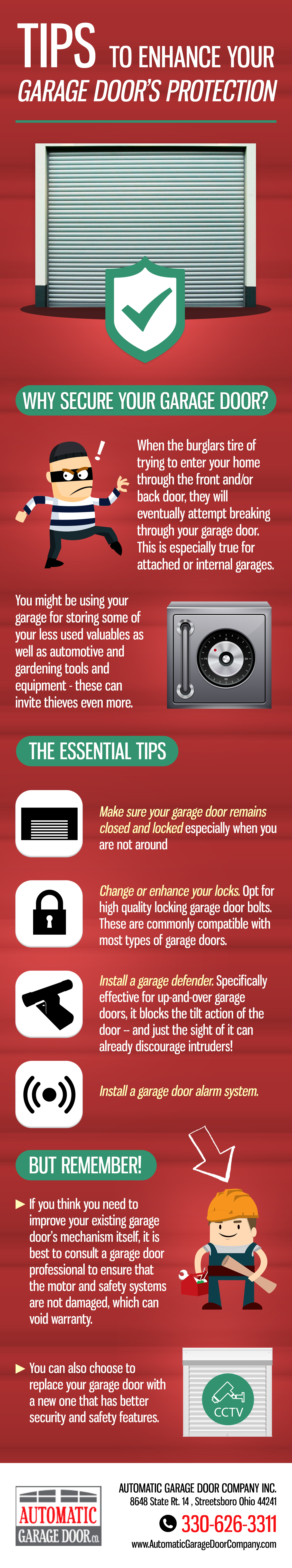 Tips to Enhance Your Garage Door's Security and Protection