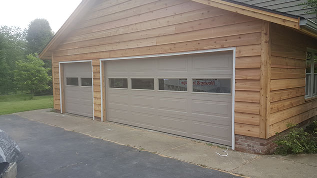 clear glass garage door