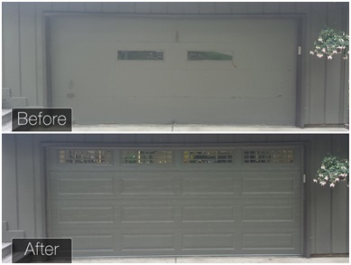 garage door replacement project