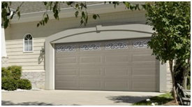 gray steel garage door