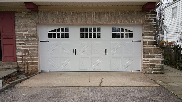hinged garage door