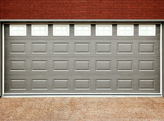 new steel panel garage door