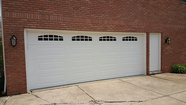 windowed garage door